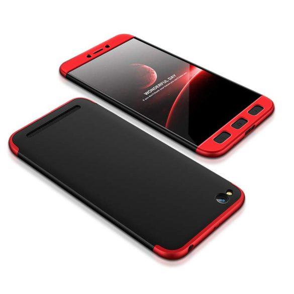 GKK 360 Protection telefon tok telefontok Első és hátsó az egész testet fedő Xiaomi redmi 5A fekete-piros