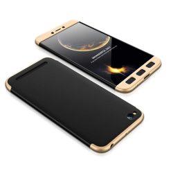GKK 360 Protection telefon tok telefontok Első és hátsó az egész testet fedő Xiaomi redmi 5A fekete-arany