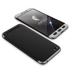 GKK 360 Protection telefon tok telefontok Első és hátsó az egész testet fedő Xiaomi redmi 5A fekete-ezüst