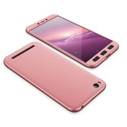 GKK 360 Protection telefon tok telefontok Első és hátsó az egész testet fedő Xiaomi redmi 5A rózsaszín