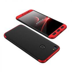 GKK 360 Protection telefon tok hátlap tok Első és hátsó tok telefon tok hátlap az egész testet fedő Xiaomi redmi NOTE 5A Prime fekete-piros