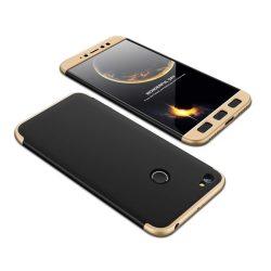GKK 360 Protection telefon tok telefontok Első és hátsó az egész testet fedő Xiaomi redmi NOTE 5A Prime fekete-arany