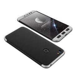 GKK 360 Protection telefon tok telefontok Első és hátsó az egész testet fedő Xiaomi redmi NOTE 5A Prime fekete-ezüst
