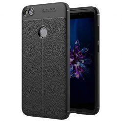 Litchi Pattern rugalmas Cover TPU tok telefon tok hátlap Huawei P9 Lite 2017 / P8 Lite 2017 / Honor 8 Lite / Nova Lite fekete