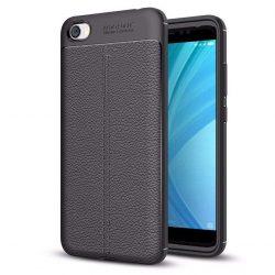 Litchi Pattern rugalmas Cover TPU telefon tok telefontok Xiaomi redmi 5A fekete