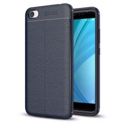 Litchi Pattern rugalmas Cover TPU telefon tok telefontok Xiaomi redmi 5A kék