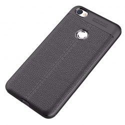 Litchi Pattern rugalmas Cover TPU tok telefon tok hátlap Xiaomi redmi NOTE 5A Prime fekete