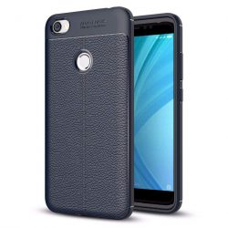 Litchi Pattern rugalmas Cover TPU tok telefon tok hátlap Xiaomi redmi NOTE 5A Prime kék