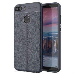 Litchi Pattern rugalmas Cover TPU telefon tok telefontok Huawei Honor 9 Lite blue