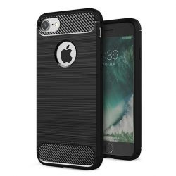 Carbon Case rugalmas Cover TPU tok iPhone 6S / 6 fekete tok telefon tok hátlap