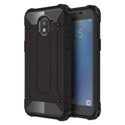 Hibrid Armor telefon tok telefontok Ütésálló Robusztus Cover Samsung Galaxy Pro J2 J210 fekete