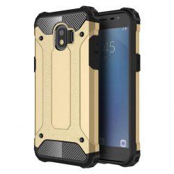 Hibrid Armor telefon tok hátlap tok Ütésálló Robusztus Cover Samsung Galaxy Pro J2 J210 arany
