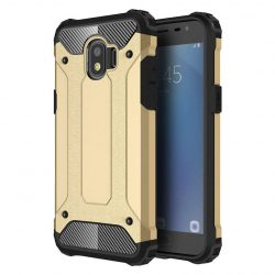Hibrid Armor telefon tok telefontok Ütésálló Robusztus Cover Samsung Galaxy Pro J2 J210 arany