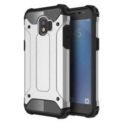 Hibrid Armor telefon tok hátlap tok Ütésálló Robusztus Cover Samsung Galaxy Pro J2 J210 ezüst