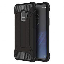 Hibrid Armor telefon tok hátlap tok Ütésálló Robusztus Cover Samsung Galaxy S9 G960 fekete