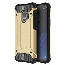 Hibrid Armor telefon tok hátlap tok Ütésálló Robusztus Cover Samsung Galaxy S9 G960 arany