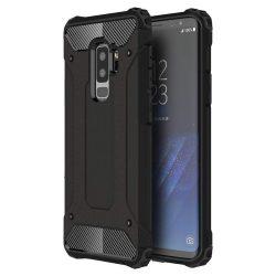 Hibrid Armor telefon tok telefontok Ütésálló Robusztus Cover Samsung Galaxy S9 Plus G965 fekete