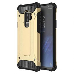 Hibrid Armor telefon tok telefontok Ütésálló Robusztus Cover Samsung Galaxy S9 Plus G965 arany