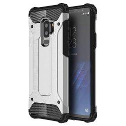 Hibrid Armor telefon tok telefontok Ütésálló Robusztus Cover Samsung Galaxy S9 Plus G965 ezüst
