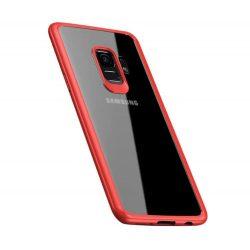 iPaky Frame átlátszó rugalmas tok telefon tok gél kerettel Samsung Galaxy S9 G960 rózsaszín