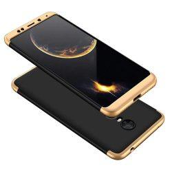GKK 360 Protection telefon tok telefontok (hátlap) Első és hátsó az egész testet fedő Xiaomi redmi 5 Plus / redmi 5 NOTE (egyetlen kamera) fekete-arany