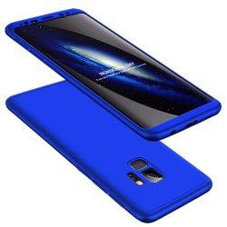 GKK 360 Protection telefon tok hátlap tok Első és hátsó tok telefon tok hátlap az egész testet fedő Samsung Galaxy S9 G960 kék