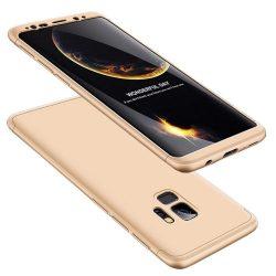 GKK 360 Protection telefon tok hátlap tok Első és hátsó tok telefon tok hátlap az egész testet fedő Samsung Galaxy S9 G960 arany
