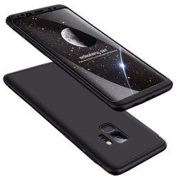 GKK 360 Protection telefon tok hátlap tok Első és hátsó tok telefon tok hátlap az egész testet fedő Samsung Galaxy S9 G960 fekete