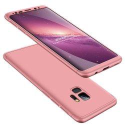 GKK 360 Protection telefon tok hátlap tok Első és hátsó tok telefon tok hátlap az egész testet fedő Samsung Galaxy S9 G960 rózsaszín