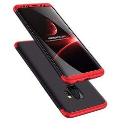 GKK 360 Protection telefon tok telefontok Első és hátsó az egész testet fedő Samsung Galaxy S9 Plus G965 fekete-piros