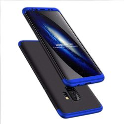 GKK 360 Protection telefon tok telefontok Első és hátsó az egész testet fedő Samsung Galaxy S9 Plus G965 fekete-kék