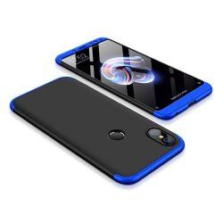 GKK 360 Protection telefon tok telefontok Első és hátsó az egész testet fedő Xiaomi redmi 5 NOTE (dual kamera) / redmi 5 NOTE Pro fekete-kék