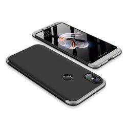 GKK 360 Protection telefon tok telefontok Első és hátsó az egész testet fedő Xiaomi redmi 5 NOTE (dual kamera) / redmi 5 NOTE Pro fekete-ezüst