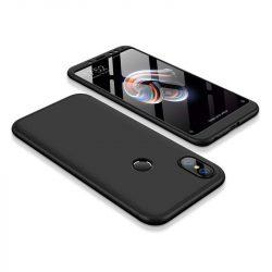 GKK 360 Protection telefon tok hátlap tok Első és hátsó tok telefon tok hátlap az egész testet fedő Xiaomi redmi 5 NOTE (dual kamera) / redmi NOTE 5 Pro fekete