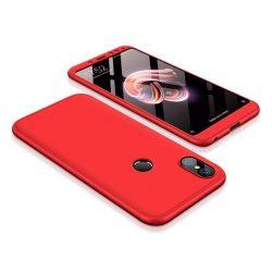 GKK 360 Protection telefon tok telefontok (hátlap) Első és hátsó az egész testet fedő Xiaomi redmi 5 NOTE (dual kamera) / redmi NOTE 5 Pro piros
