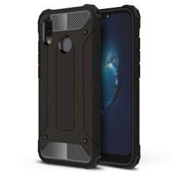 Hibrid Armor telefon tok telefontok (hátlap) tok Ütésálló Robusztus Cover Huawei P20 Lite fekete