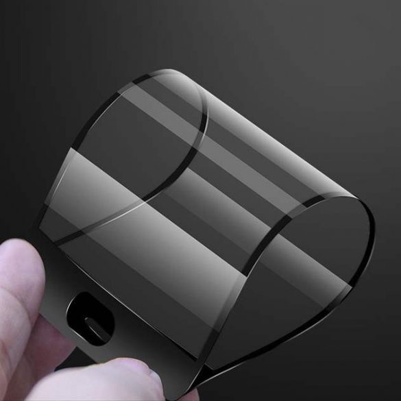 Wozinsky Full Cover Flexi Nano üveg hibrid Screen Protector kerettel iPhone 8 fekete kijelzőfólia üvegfólia tempered glass