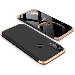 GKK 360 Protection telefon tok telefontok (hátlap) Első és hátsó az egész testet fedő Huawei P20 Lite fekete-arany