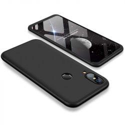 GKK 360 Protection telefon tok hátlap tok Első és hátsó tok telefon tok hátlap az egész testet fedő Huawei P20 Lite fekete