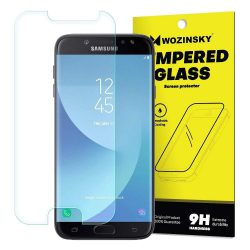 Wozinsky edzett üveg 9H képernyővédő fólia Samsung Galaxy J7 2017 J730 (csomagolás - boríték) kijelzőfólia üvegfólia tempered glass
