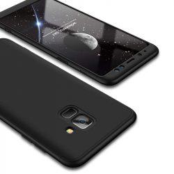 GKK 360 Protection telefon tok hátlap tok Első és hátsó tok telefon tok hátlap az egész testet fedő Samsung Galaxy A8 2018 A530 fekete