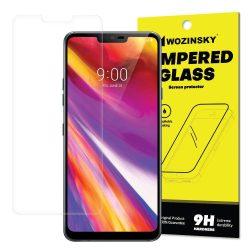 Wozinsky edzett üveg SCO (Csak a képernyő közepére) kijelzőfólia képernyőfólia 9H LG G7 ThinQ (csomagolás - boríték) kijelzőfólia üvegfólia tempered glass