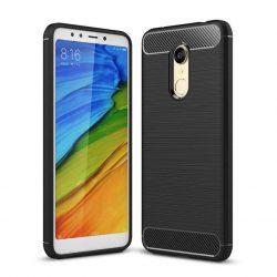 Carbon telefon tok hátlap tok rugalmas Cover TPU tok telefon tok hátlap Xiaomi redmi 5 Plus / redmi 5 NOTE (egyszeri kamera) fekete