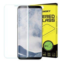 Wozinsky edzett üveg 3D képernyővédő fólia Teljes Coveraged kerettel Samsung Galaxy S9 Plus G965 egyértelmű kijelzőfólia üvegfólia tempered glass