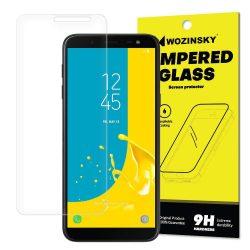 Wozinsky edzett üveg 9H képernyővédő fólia Samsung Galaxy J6 2018 J600 (csomagolás - boríték) kijelzőfólia üvegfólia tempered glass