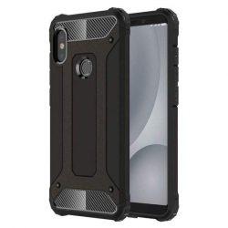 Hibrid Armor telefon tok hátlap tok Ütésálló Robusztus hátlap tok telefon tok Xiaomi redmi 5 NOTE (dual kamera) / redmi NOTE 5 Pro fekete