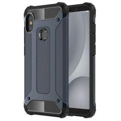 Hibrid Armor telefon tok hátlap tok Ütésálló Robusztus hátlap tok telefon tok Xiaomi redmi 5 NOTE (dual kamera) / redmi NOTE 5 Pro kék