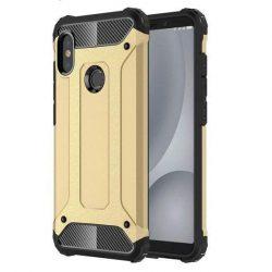 Hibrid Armor telefon tok telefontok Ütésálló Robusztus telefon tok Xiaomi redmi 5 NOTE (dual kamera) / redmi NOTE 5 Pro arany
