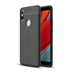 Litchi Pattern rugalmas Cover TPU tok telefon tok hátlap Xiaomi redmi S2 fekete