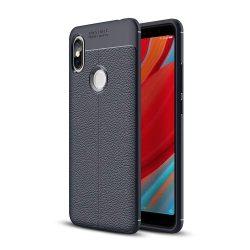 Litchi Pattern rugalmas Cover TPU tok telefon tok hátlap Xiaomi redmi S2 kék